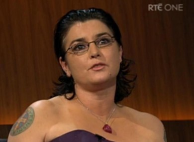 Sinead O'Connor on the Late Late last night.
