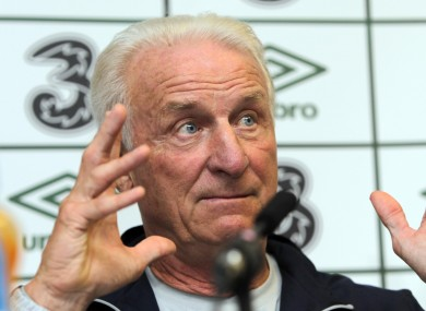 Trapattoni is optimistic Ireland can beat Russia on Tuesday.