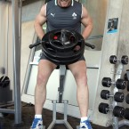 Sean O'Brien during weight training in New Zealand. 