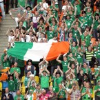 Ireland fans make their presence felt. 