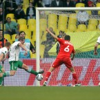 Richard Dunne makes THAT block to stop Russia's Igor Semshov from scoring.
