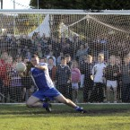 Ciaran Whelan saves a penalty for the Dublin Legends.