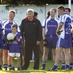 Dublin Legends manager Mick O'Dwyer with his team.