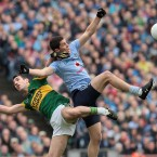 Rory O'Carroll and Declan O'Sullivan clash.