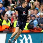 Match hero Stephen Cluxton celebrates at the final whistle.