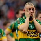 Barry John Keane looking dejected after the game.