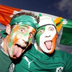 Ireland fans show their colours.