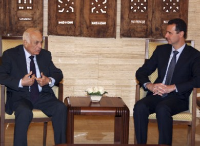 Arab League Secretary-General Nabil Elaraby met with Syria's president Bashar Assad last July.