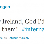 Bernard Brogan is amused by this (presumably fake) Twitter account. Unfortunately, the original tweet was deleted.