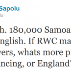 Eliota Fuimaono-Sapolu continues his one-man crusade against the IRFU.
