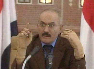 Ali Abdullah Saleh speaks on Yemeni state television