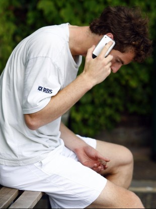 Andy Murray: yet to master the art of tweeting, judging by this photo.