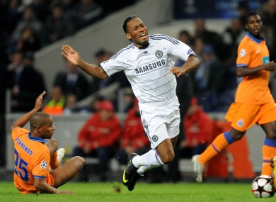 Didier Drogba in full flight. 