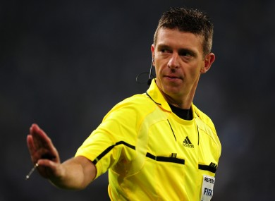 The referee was criticised for his performance on Saturday.