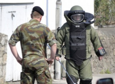 File photo of members of an Army Bomb Disposal Team