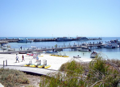 Shot of Rottnest Island, where the attack occurred.