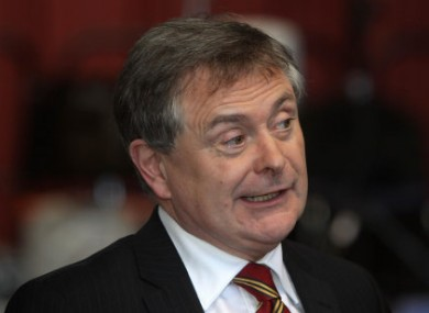 Brendan Howlin speaking at Dublin Castle today