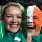 Ireland fans after the game.