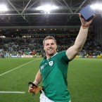 Man-of-the-match Sean O'Brien celebrates.