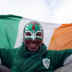 An Ireland fan before kick-off.