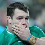 Cian Healy disappointed at the end of the game.