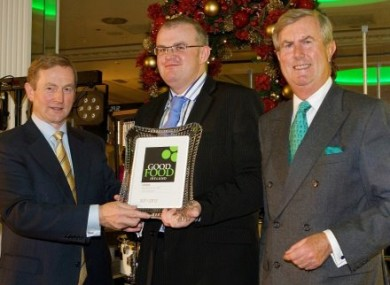 The Taoiseach with representatives of ‎Hastings Hotels, winner of Newcomer of the Year at the Good Food Ireland awards on Tuesday.