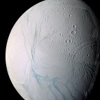 This photo provided by NASA shows the surface of Saturn's moon Enceladus in this photo taken by the Cassini spacecraft. The enthusiasm NASA has for finding otherworldly life is focused more on Mars and the Jupiter moon Europa, than the most recent findings on Saturn's moon Enceladus. Any future mission to Enceladus would come after a trip to Europa. (AP Photo/NASA, JPL, Space Science Institute)