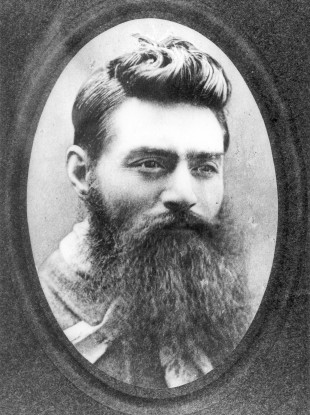 A photo of Ned Kelly, taken on November 10, 1880 - the day before his execution.