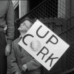 A young Cork supporter in 1957.