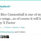 @KellyAllen01 loves the song... but not X Factor