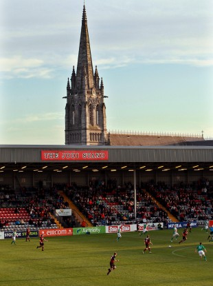 Bohs' famous ground, Dalymount Park, in Phibsboro.