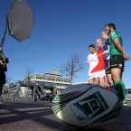 Johann Muller, Paul O'Connell, Leo Cullen and John Muldoon at a photocall to launch this season's Heineken Cup.