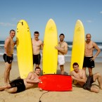 Kieran Donaghy, Tommy Walsh, Joe McMahon, Tadgh Kennelly, Pearse Hanley and Colm Begley strike a pose after some surf action down under.