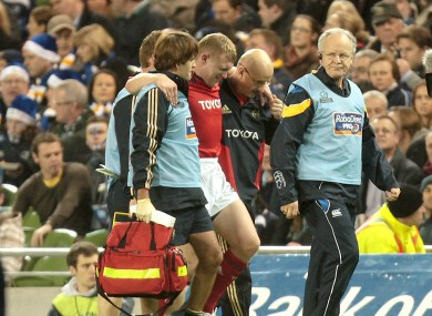 Earls suffered the injury in the opening seconds of his side's encounter with Leinster.