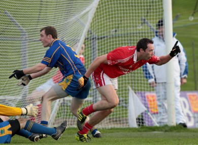 Barry Cahill scored yesterday, as Brigid's progressed.