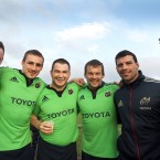David Kilcoyne, Tommy O'Donnell, Damien Varley, Denis Fogarty, Denis Leamy and Conor Murray, who are participating in 'Movember'
