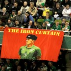 Fans pay tribute to the hero of Moscow, Richard Dunne.