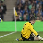 Shay Given makes a mistake to concede the equaliser.
