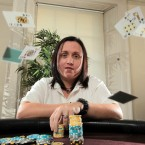 Irish team member Cat O'Neill who has won over 30 major cashes in recent tournaments.