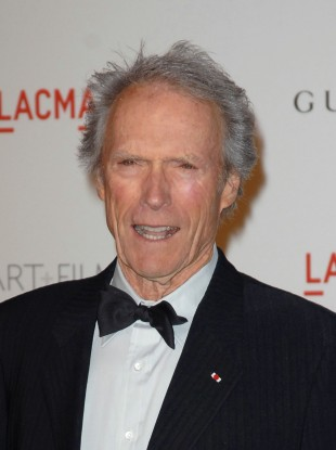 Clint Eastwood at a Hollywood party last month