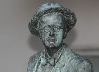 A statue of James Joyce at the Merrion Hotel in Dublin