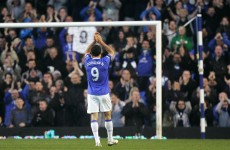True blue: Donovan lands to give Everton a dig-out
