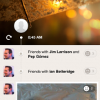 Path already wows you with an absolutely gorgeous interface. When you pull down on the screen, it will show you what time each post — called a