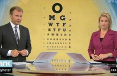 Watch: Norwegian news show's eye-test graphic blooper