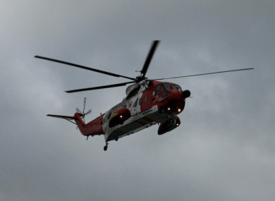 File photo of the Coast Guard helicopter