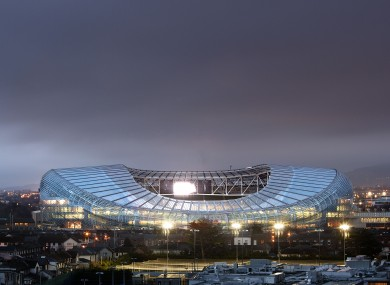 If England do come to Dublin, the Aviva Stadium will host the match 