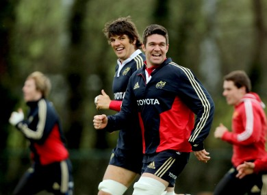 The Munster squad train ahead of their game on Saturday.