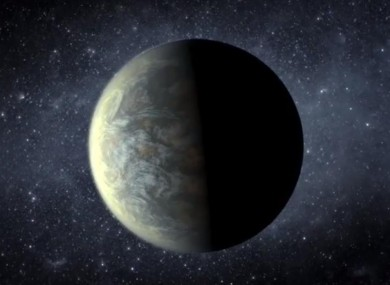 An artist's impression of one of the planets