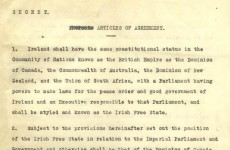 'Secret' Anglo-Irish Treaty of 6 December 1921 now online