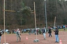 Watch: German throws out Christmas tree… and retains world title